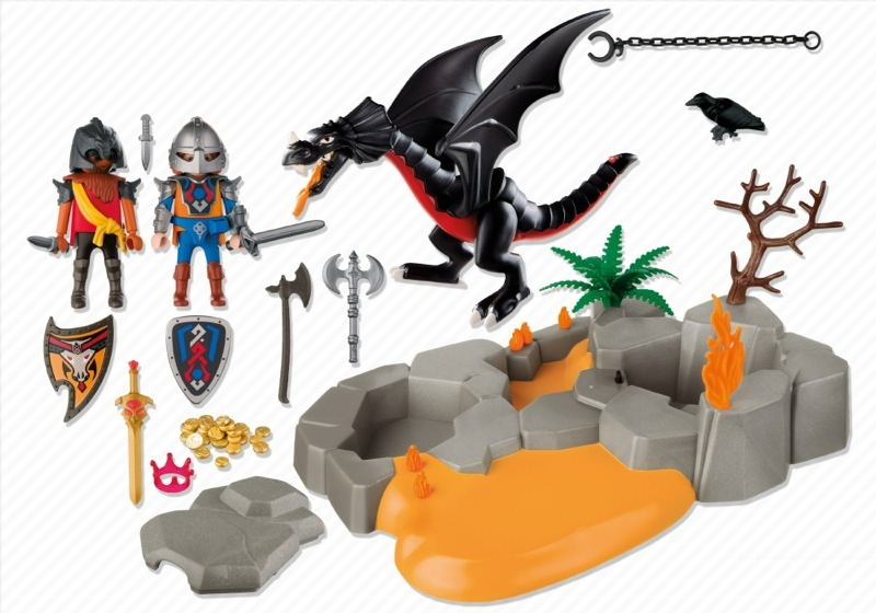 Playmobil 4006s2 - SuperSet Dragon`s Lair - Back