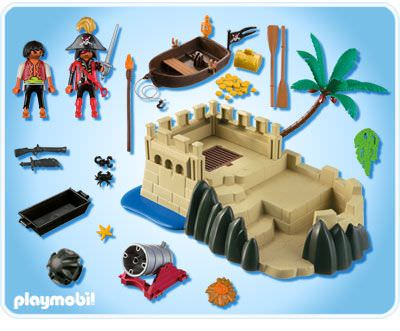 Playmobil 4007s2 - Super set pirates stronghold - Back