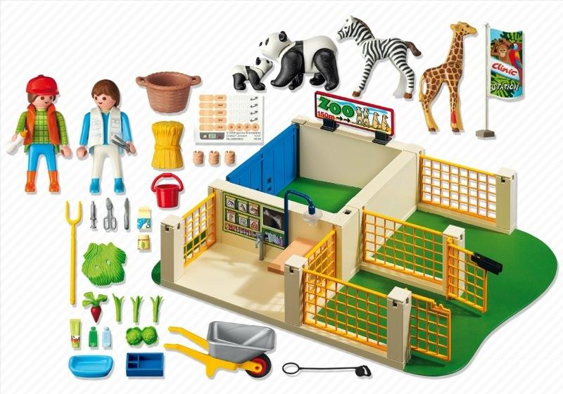 Playmobil 4009 - Super Set Animal Care Station - Back