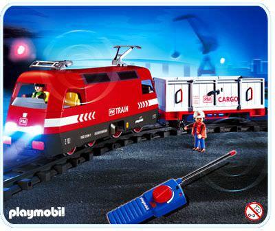 Playmobil set 4010 rc cargo engine with light klickypedia - Train playmobil ...