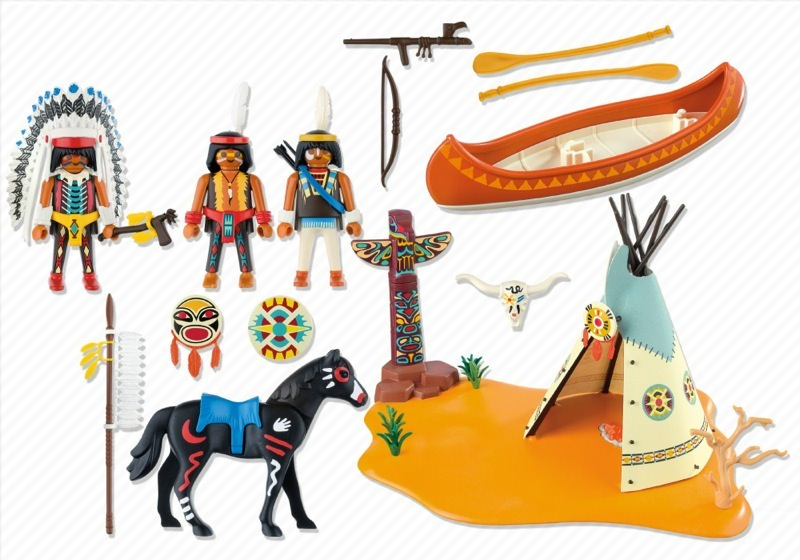 Playmobil 4012 - SuperSet Native American Camp - Back