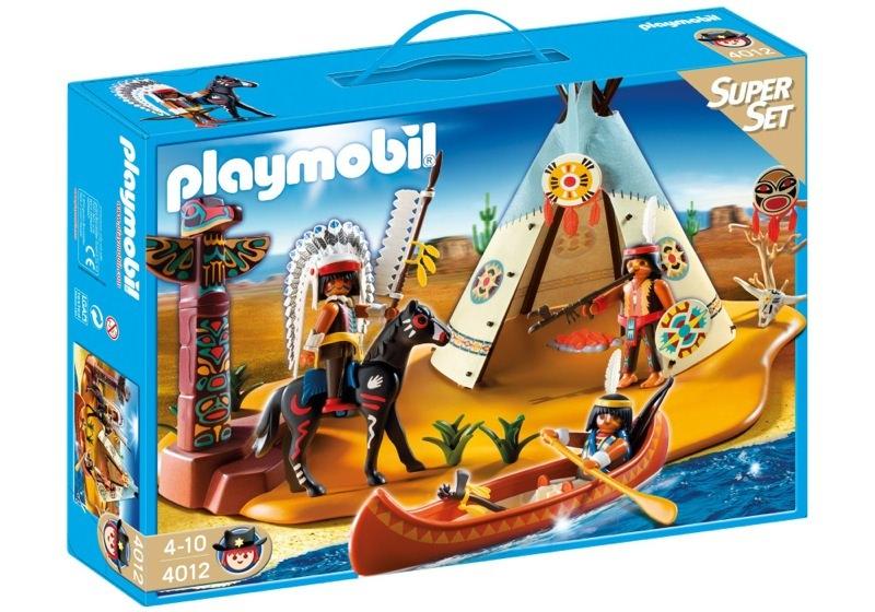 Playmobil 4012 - SuperSet Native American Camp - Box