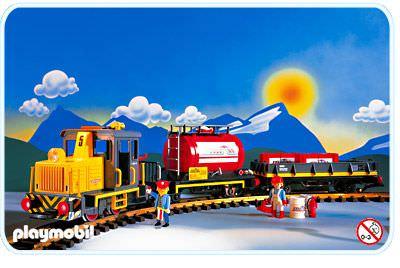 Playmobil set 4024 usa diesel train set klickypedia - Train playmobil ...