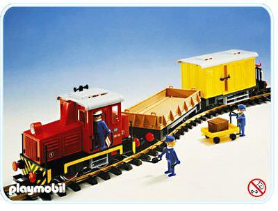 Playmobil set 4025 diesel freight train set klickypedia - Train playmobil ...