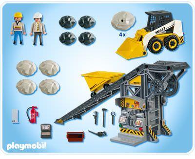 Playmobil 4041v1 - Conveyor Belt with Mini Excavator - Back