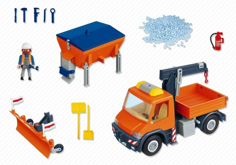 Playmobil 4046 - Straßenmeisterei-Fahrzeug - Back
