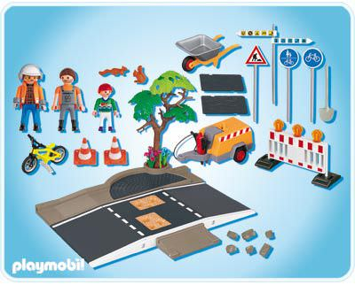 Playmobil 4047 - Road Construction - Back