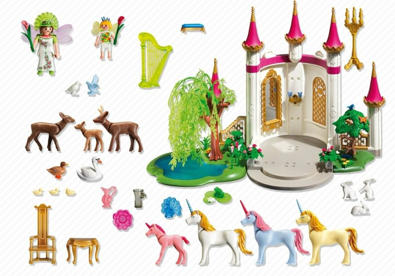 Playmobil 4056 - Fairy land castle - Back