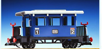 Playmobil - 4100 - Blue Passenger Car