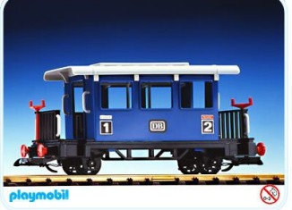 Playmobil - 4100 - Blue Passenger Car