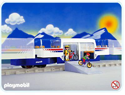 Playmobil set 4119 express train car klickypedia - Train playmobil ...