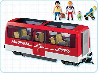 Playmobil 4124 - Panorama Express Rail Car - Back