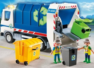 Playmobil - 4129 - Recycling Truck with Flashing Light