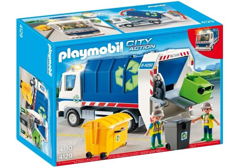 Playmobil 4129 - Recycling Truck with Flashing Light - Box