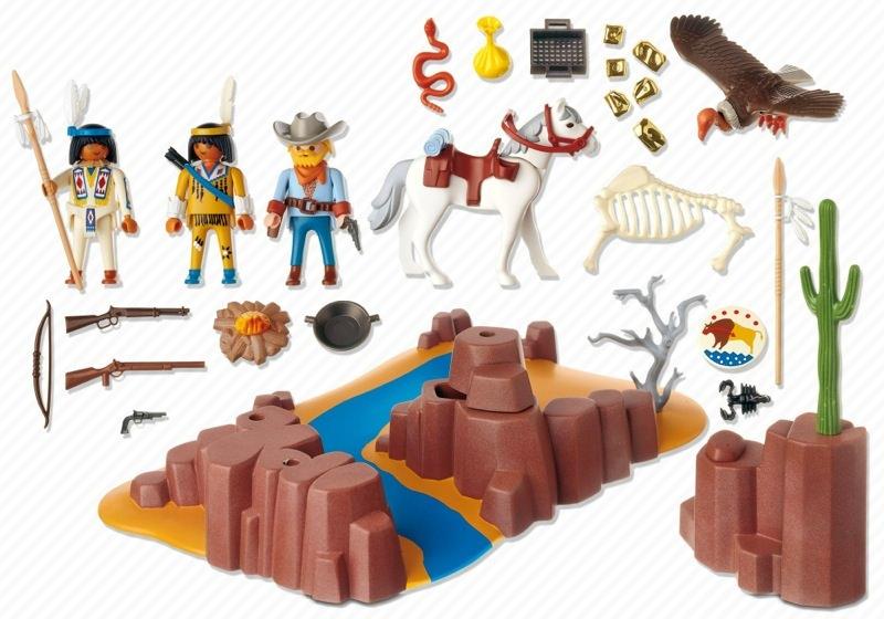Playmobil 4130 - Western Super Set - Back