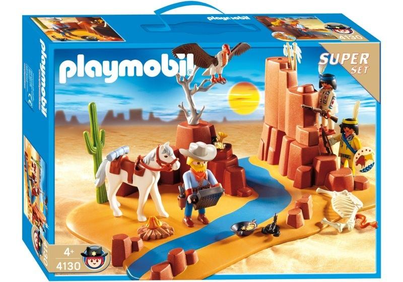 Playmobil 4130 - Western Super Set - Box