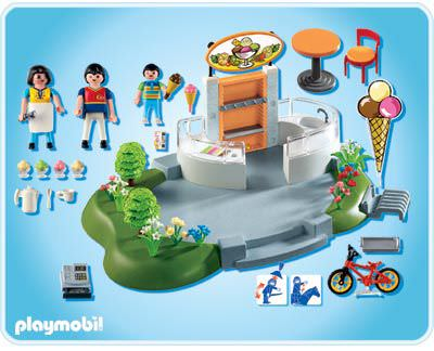 Playmobil 4134 - Super Set Ice Cream Parlor - Back