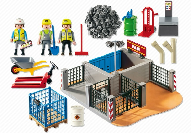 Playmobil 4135 - Super Set Construction Site - Back