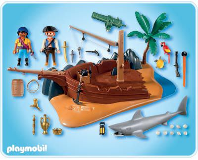 Playmobil 4136 - Superset Pirate Island - Back