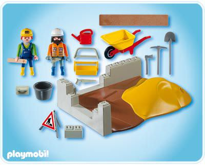 Playmobil 4138 - Construction Compact Set - Back