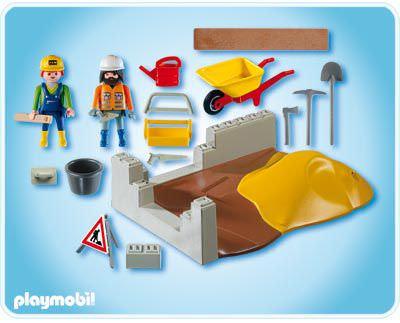 Playmobil 4138 - Construction Compact Set - Back