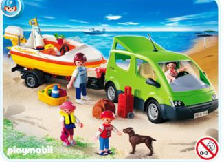 Playmobil - 4144 - Familienbus mit Bootsanhänger