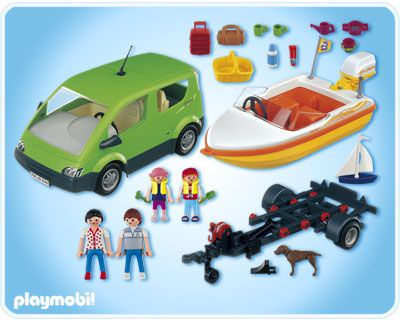 Playmobil 4144 - Family Van with Boat Trailer - Back
