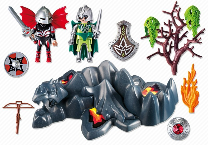 Playmobil 4147 - Dragon Rock Compact Set - Back