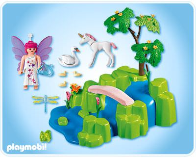 Playmobil 4148 - Fairy Garden Compact Set - Back