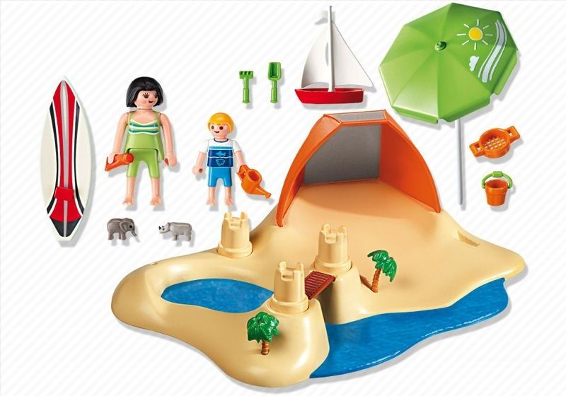 Playmobil 4149 - Beach Holiday Compact Set - Back
