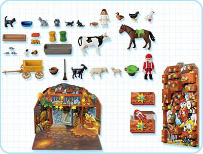 Playmobil 4151 - Animals' Christmas - Back