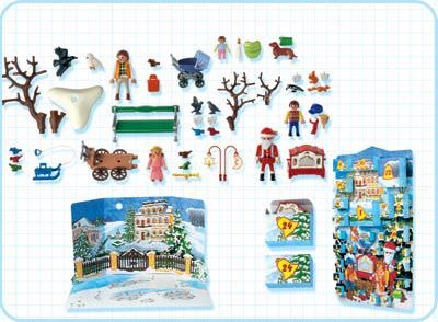 Playmobil 4152 - Advent Calendar Christmas in the Park - Back