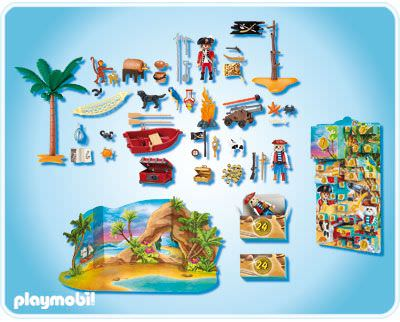 "Playmobil 4156 - advent calendar ""pirate lagoon"" - Back"