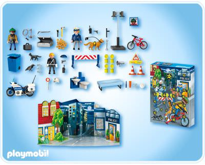 "Playmobil 4157 - Advent Calendar ""Police"" - Back"