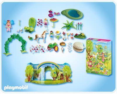 "Playmobil 4158 - Advent Calendar ""Unicorn in Fairy World"" - Back"
