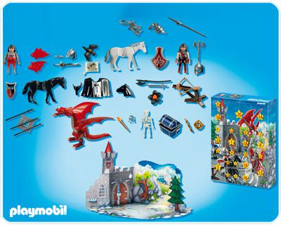 Playmobil 4160 - Advent Calendar 'Dragon's Land' - Back