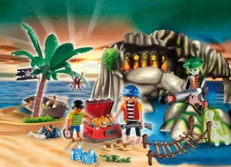 Playmobil - 4164 - Advent calendar pirates treasure cave