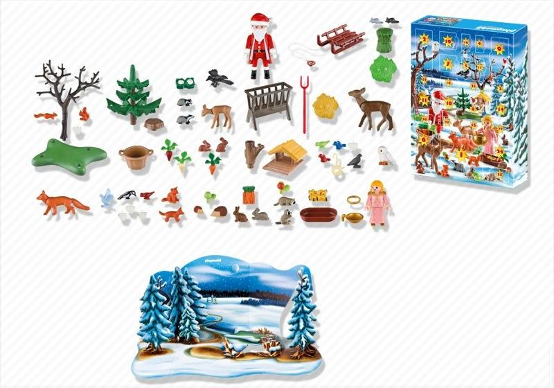 Playmobil 4166 - Advent Calendar Forest Winter Wonderland - Back