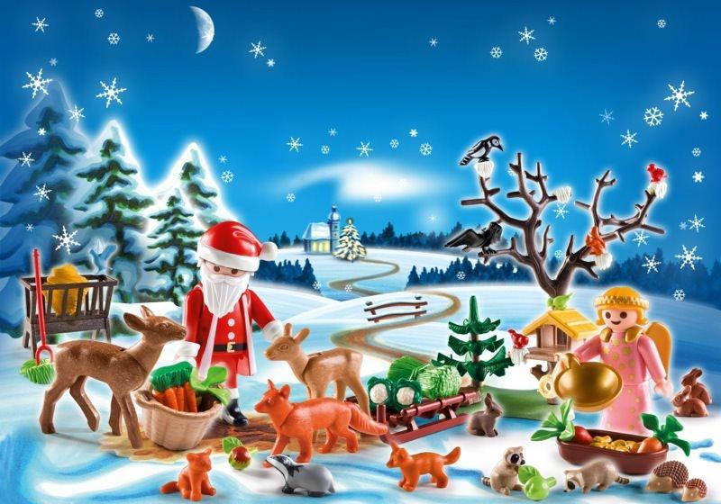 playmobil set 4166 advent calendar forest winter. Black Bedroom Furniture Sets. Home Design Ideas