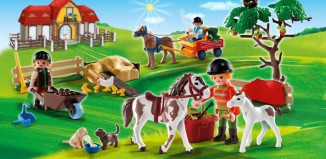 Playmobil - 4167 - Advent Calendar Pony Farm with great additional surprises