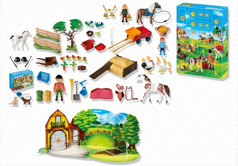 Playmobil 4167 - Advent Calendar Pony Farm with great additional surprises - Back