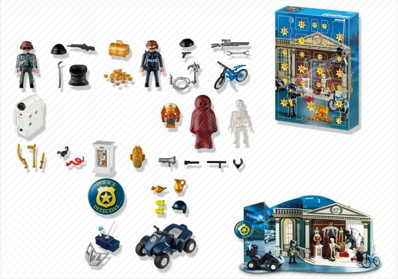 Playmobil 4168 - Advent Calendar Police with cool additional surprises - Back