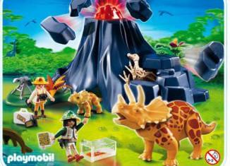 Playmobil - 4170 - Triceratops mit Baby und Vulkan