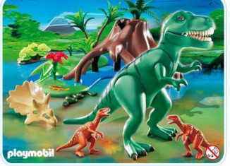 Playmobil - 4171 - T-Rex with Velociraptors