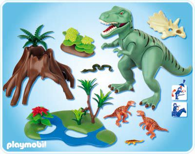 Playmobil 4171 - T-Rex with Velociraptors - Back