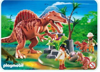 Playmobil - 4174 - Spinosaurus with Dino Nest and two Spinosaurus-babies