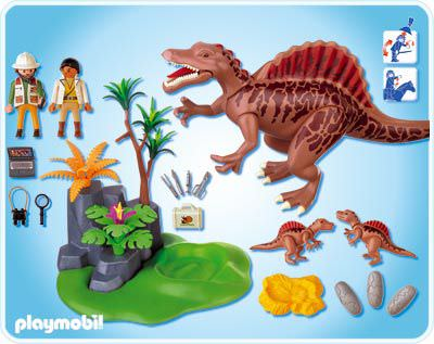 Playmobil set 4174 spinosaurus with dino nest and two - Dinosaur playmobile ...