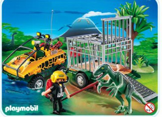 Playmobil - 4175 - Amphibian Vehicle with Deinonychus