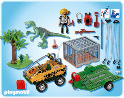 Playmobil 4175 - Amphibian Vehicle with Deinonychus - Back