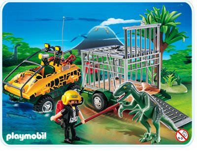 Playmobil set 4175 amphibian vehicle with deinonychus - Dinosaur playmobile ...